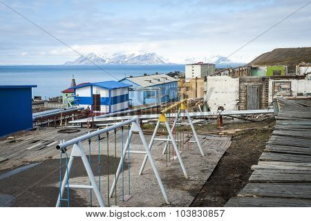 Playground In Baretnsburg, Russian Settlement In Svalbard