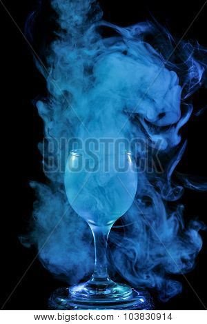 Aquamarine Smoke In A Glass. Halloween.