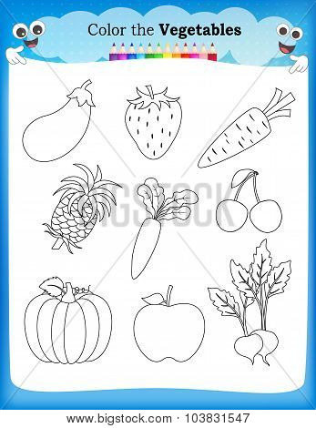 Kids Worksheet Coloring