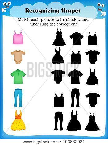 Kids Worksheet Recognizing Shapes
