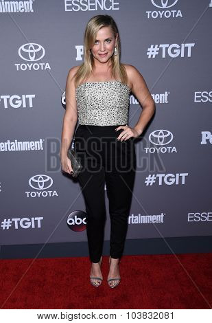 LOS ANGELES - SEP 26:  Jessica Capshaw arrives to the TGIT Premiere Red Carpet Event  on September 26, 2015 in Hollywood, CA.