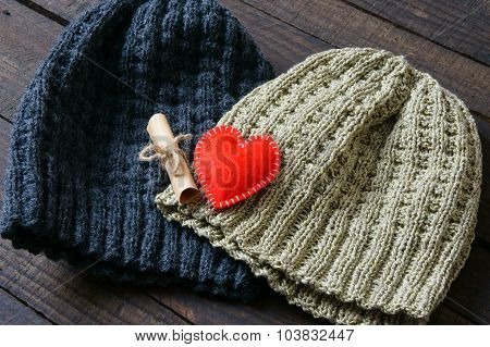 Handmade, Gift, Couple, Woollen Hat, Knitting