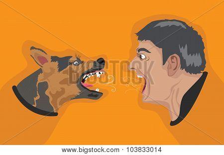 Angry Dog Angry Man
