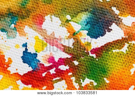 abstract figure sketch of bright colors on the canvas of a textured background