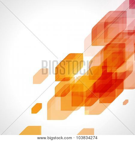 Abstract colorful hexagon shapes technology vector background.