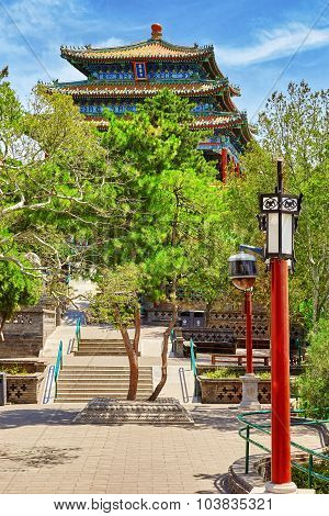 Jingshan Park, Pavilion Of Everlasting Spring (wanchun Ting), Near The Forbidden City, Beijing.