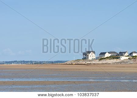 On The Beach Of Portbail, Normandy, France At Low Tide
