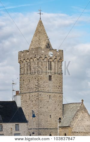 View Of The Church Notre-dame In Portbail In Normandy, France