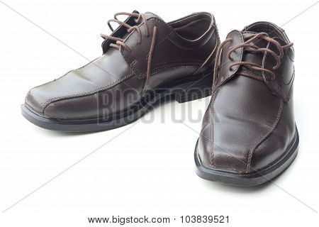 Dark Brown Leather Men's Shoes
