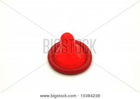 Bright Red Condom