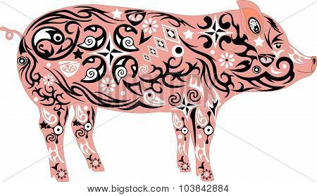 Pig,  animal, cattle,pink