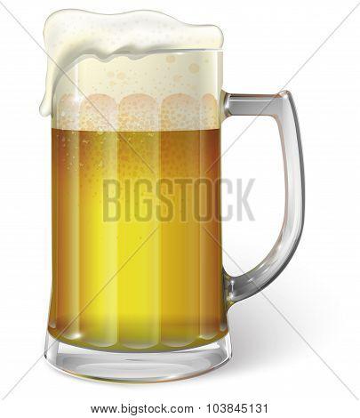 Mug with beer. Vector