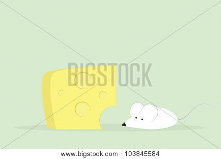 cartoon mouse and cheese