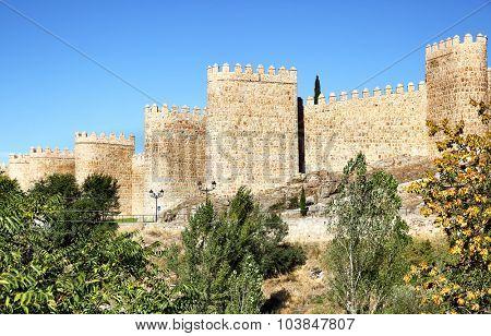 City wall of Avila, Castile and Leon, Spain
