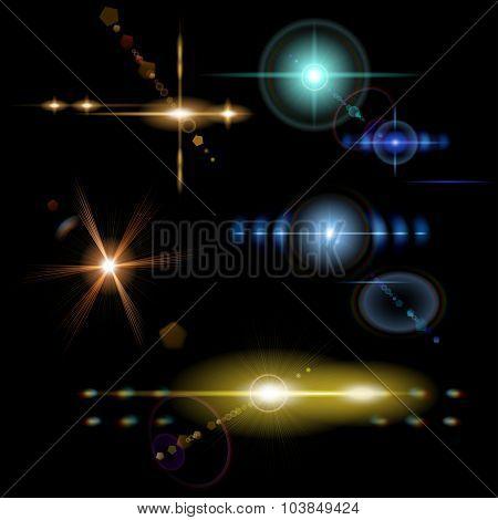 Transparent Colored Lens Flares