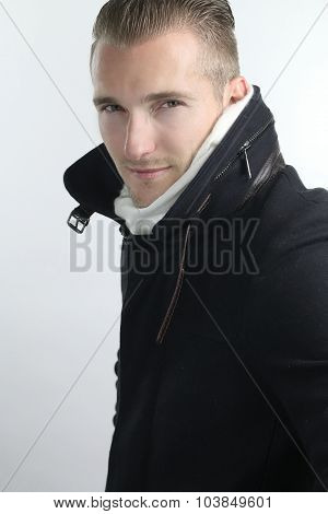 winter style - handsome male