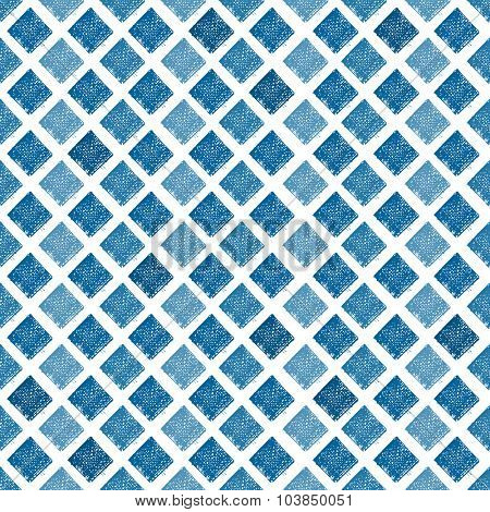 Abstract geometric seamless pattern with hand drawn rhombus