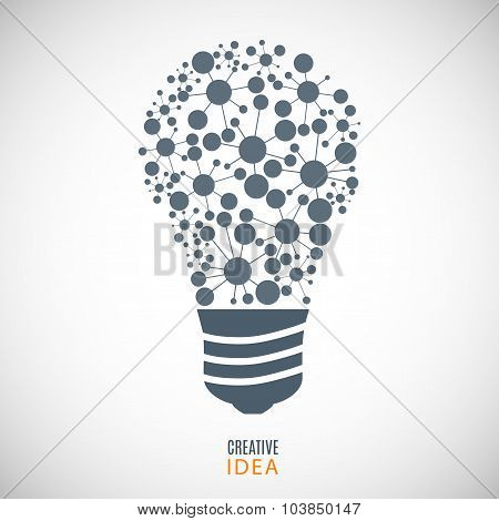 Bulb Icon (cogs) On The Gray Background. Stock Vector Illustration Eps10