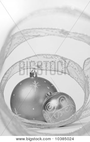 Bauble Still Life In Mono