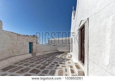 White Church on the island of Mykonos, Cyclades Islands