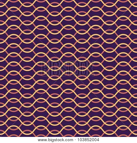 Vector seamless pattern. Abstract stylish background. Wavy regular pattern