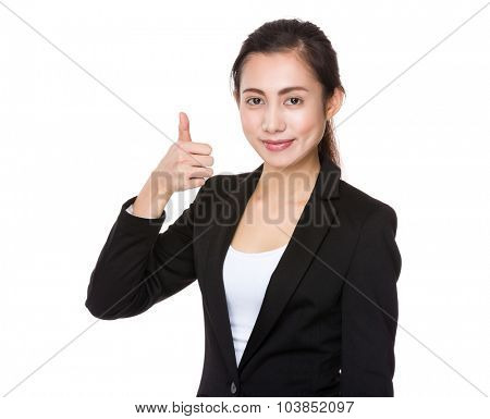 Asian Young businesswoman with thumb up gesture