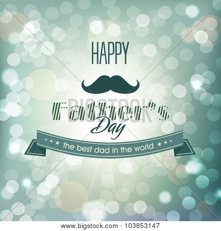 Vector Image Of Schastlivogo Father's Day.