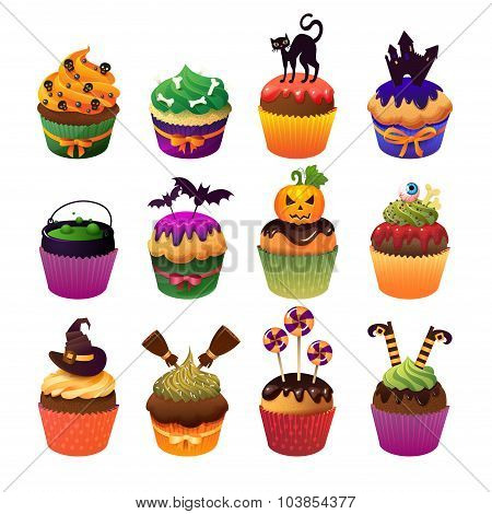 Happy Halloween Cupcake Set Scary Sweets To Celebrate