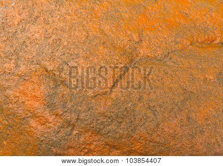 Orange Painted Stone Texture.