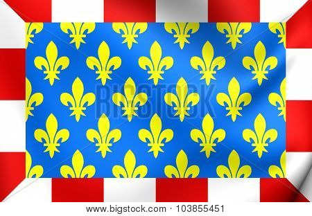 Flag Of Indre-et-loire Department, France.