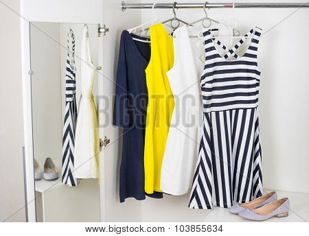 Fashion Womens Dresses On Hangers
