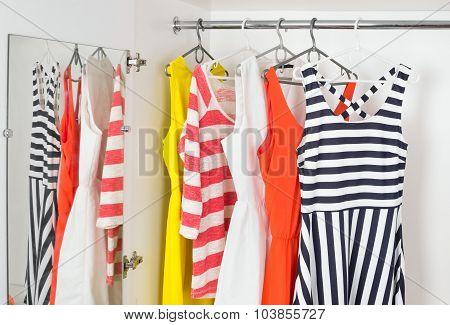 Fashion Womens Dresses On Hangers