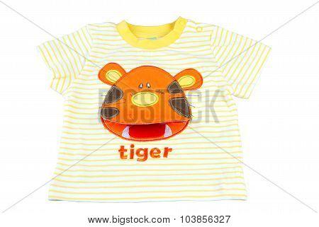 Children's Wear T-shirt Isolated On White.