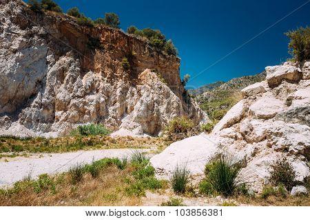 Mountains near Rio Chillar River in Nerja, Malaga, Spain