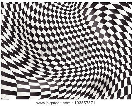 Checkered Flag Background Race Flag Design Vector