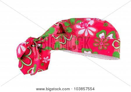 Bandana For The Girl On A White Background