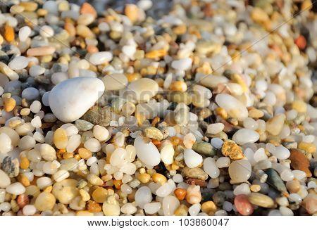 colored sea pebbles