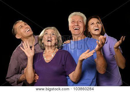 Family portrait with senior parents