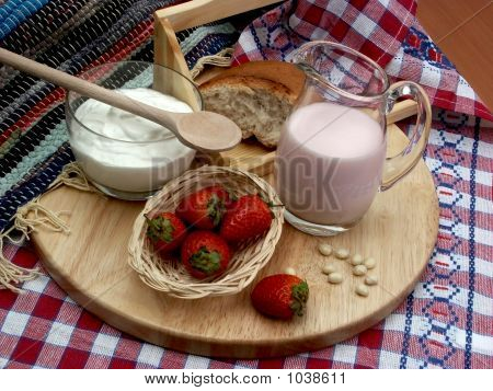 Milk And Strawberry