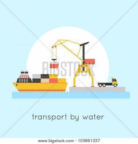 Cargo transportation ship
