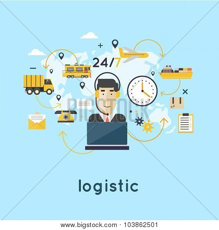 Logistic Infographic