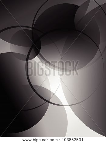 Abstract technology background with circles design 1