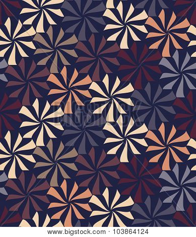 Vector Modern Seamless Colorful Geometry Pattern, Flowers