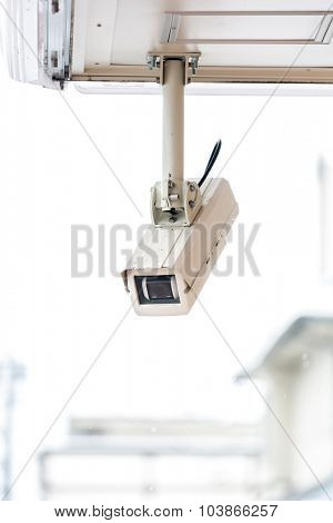 security camera CCTV of retail shop