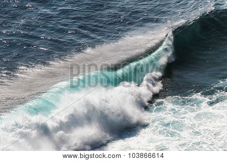 Detail Of Big Colorful Ocean Waves-bali, Indonesia