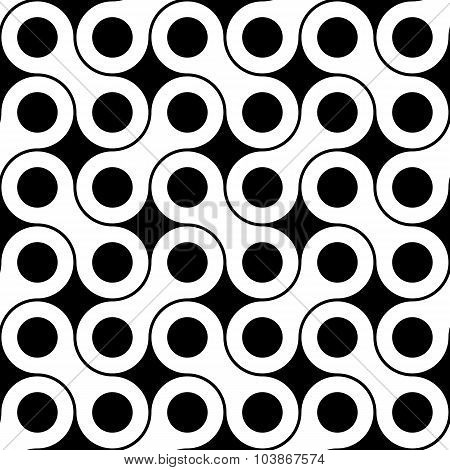 Vector modern seamless geometry pattern wrench black and white abstract