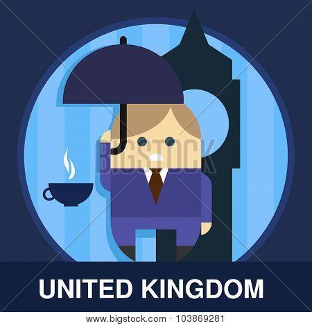 Englishman Vector Illustration
