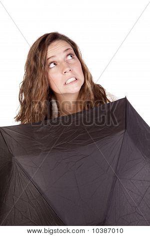 Looking Up Over Umbrella