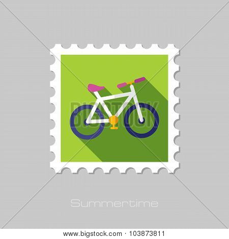 Bicycle flat stamp with long shadow