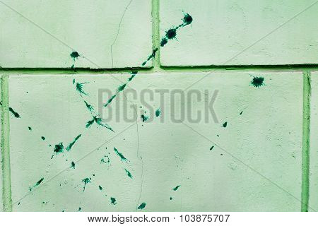 Dirty Spots On Green Wall
